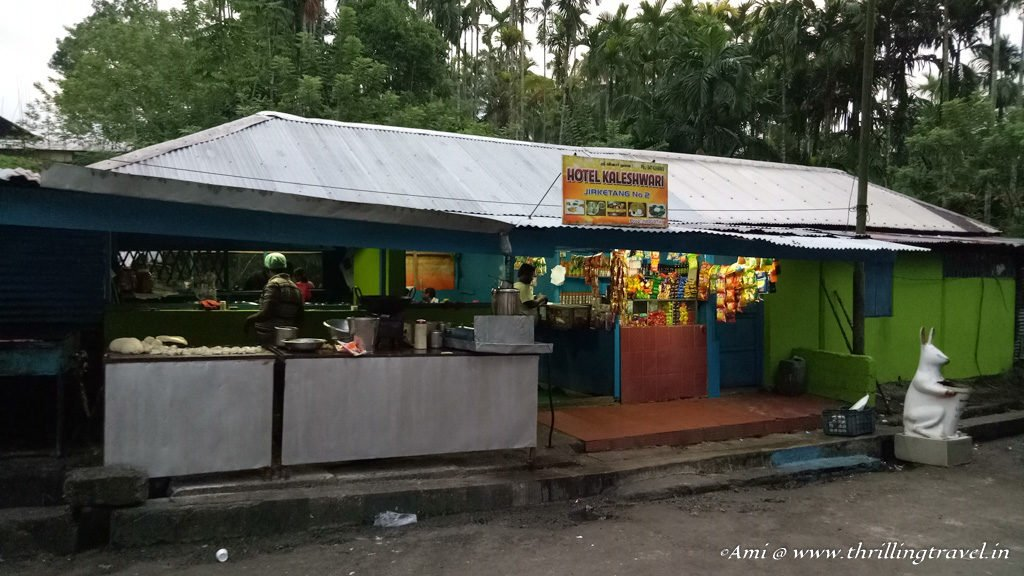 One of the many small cafeterias at the Forest Check-point in Andamans