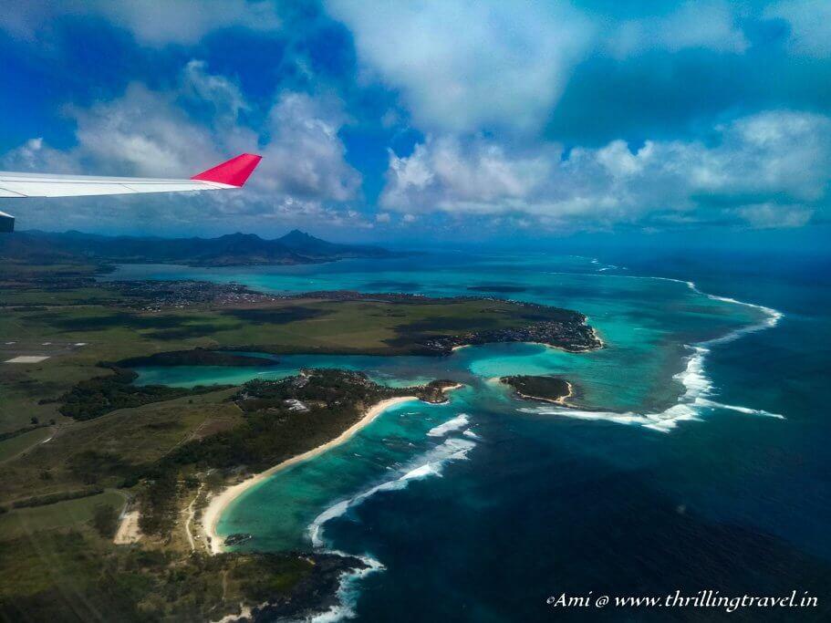 Descending into Mauritius