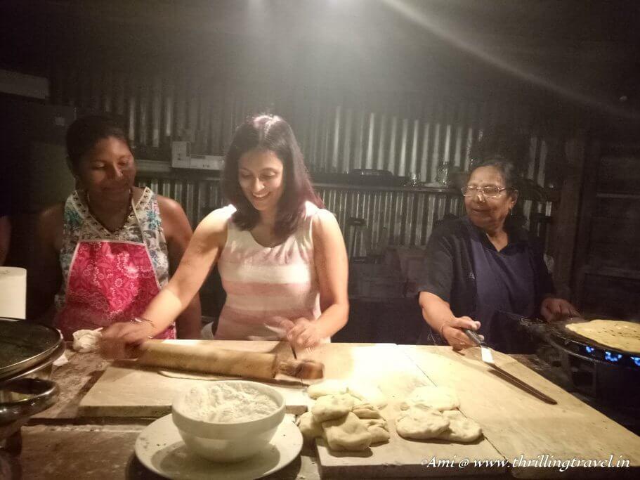 Making Paranthas at Le Kaze Mama with the Grand Mama of Mauritius - Hotel Shanti Maurice