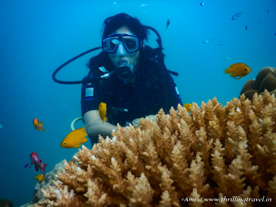Me doing Scuba Diving in Andamans