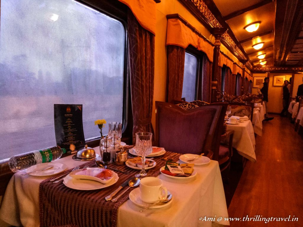 Nalapakka Coach - the dining car of Golden Chariot