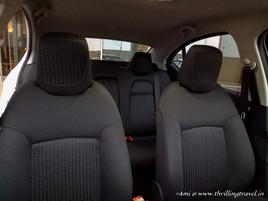 The comfortable and lovely seat of the Tata Tigor