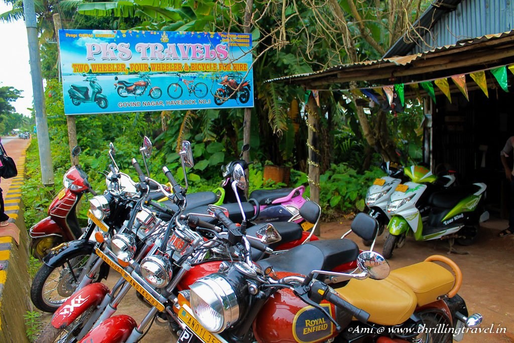 Hiring a two wheeler in Havelock Island is a good idea