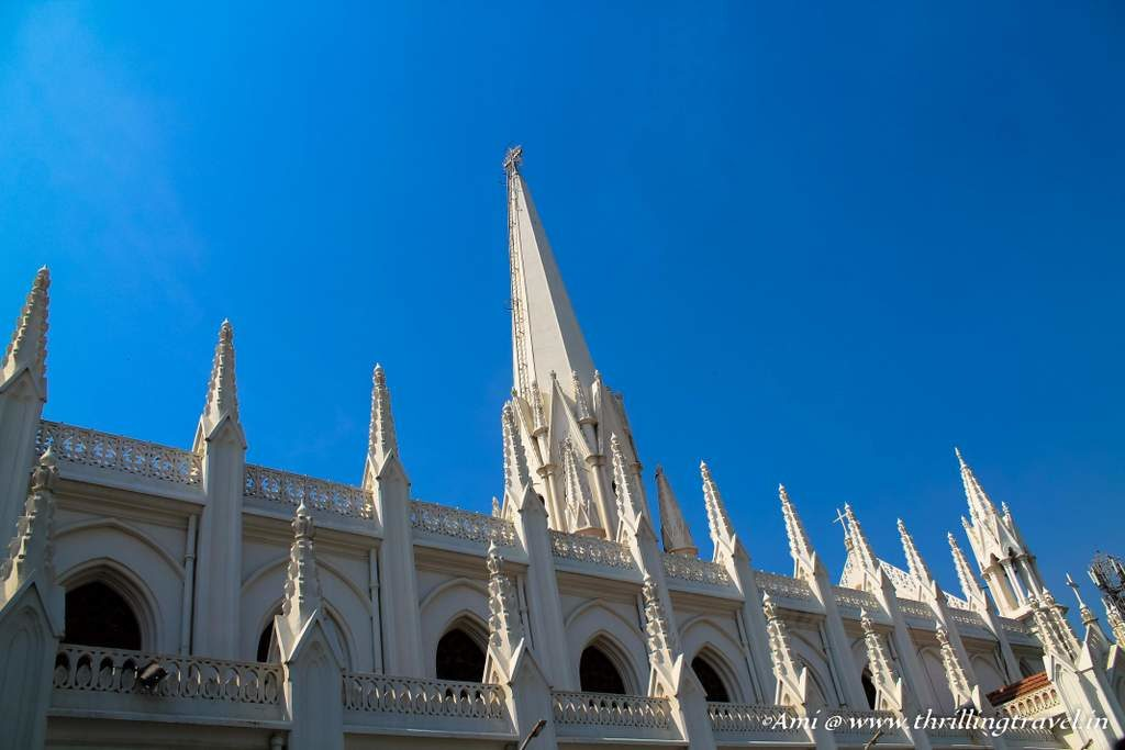 The beautiful spires of the Santhome church, Chennai