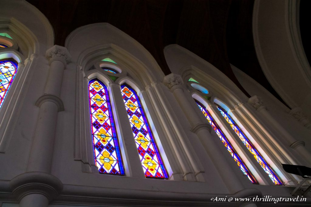 Stained glass windows of the Santhome Church, Chennai