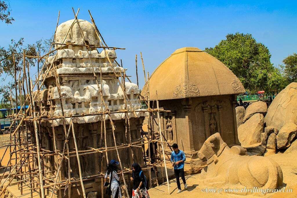 The Nandi facing Arjuna's Ratha