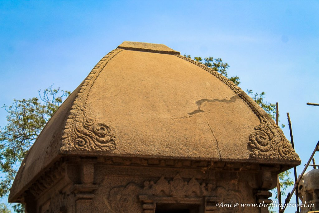 Close up of the Roof of Draupadi's Ratha