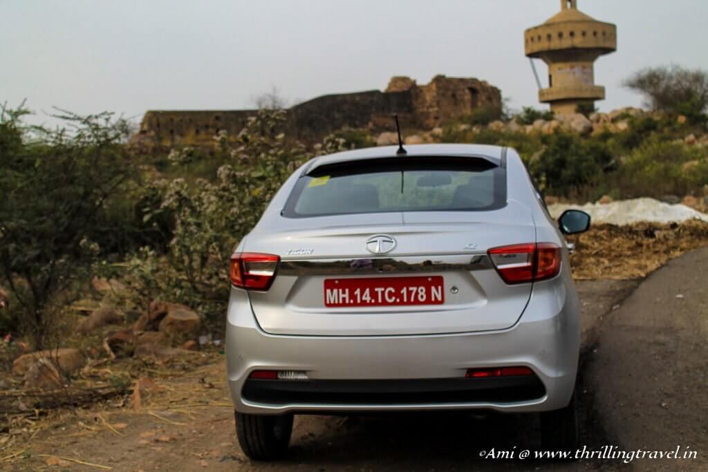 Rear end of the Tata Tigor