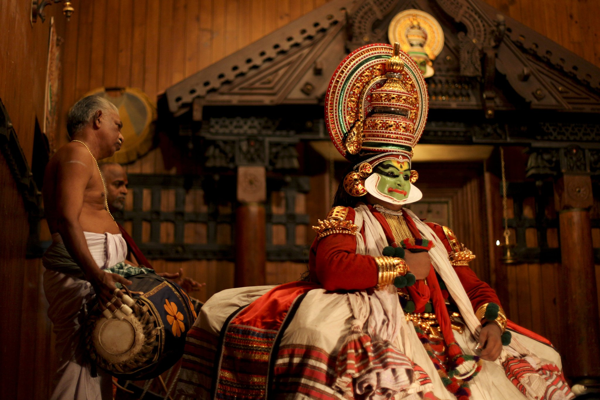 Kathakali artist in Fort Kochi