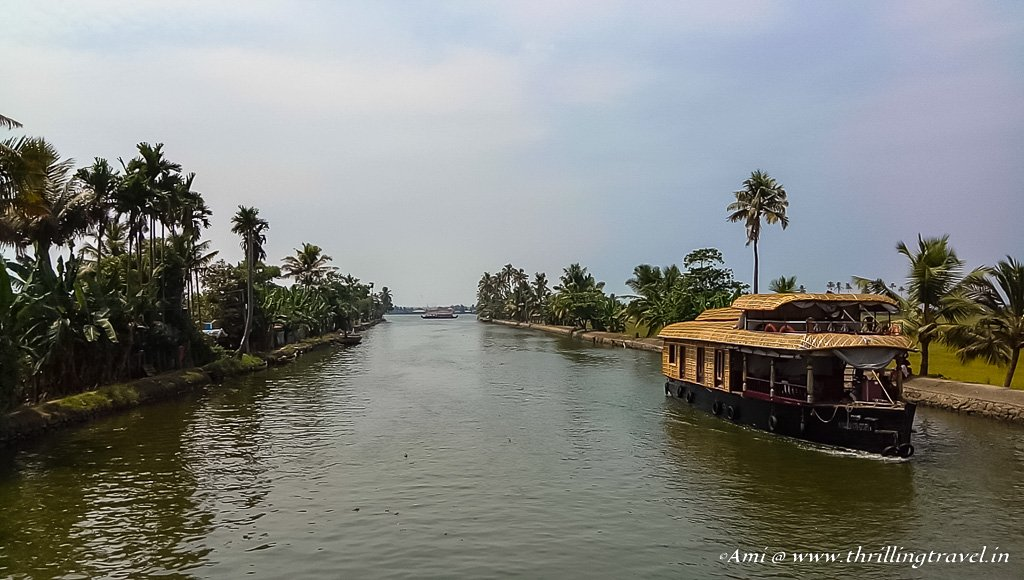 Houseboat on the backwaters of Kerala, Alleppey