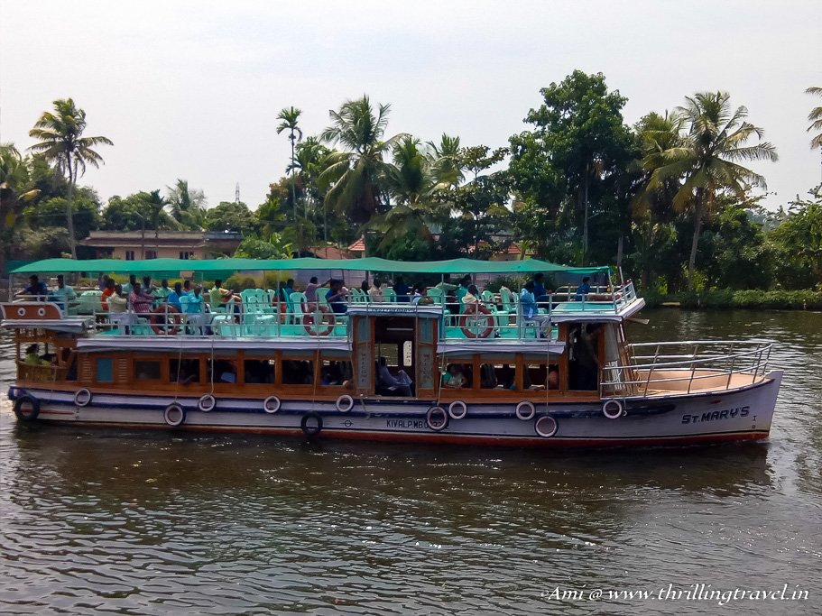 Water taxis in Alleppey