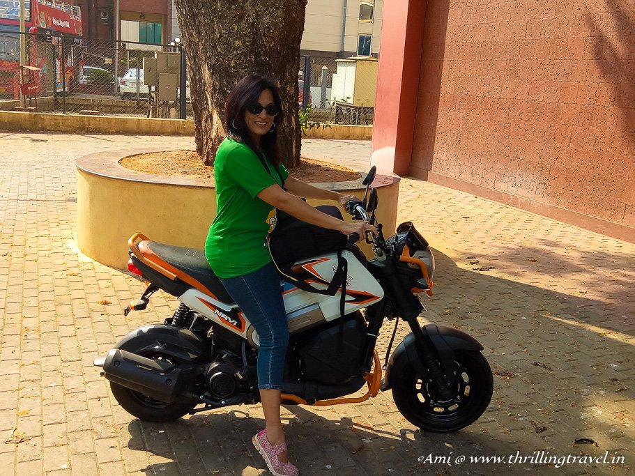 Getting ready for the Goa Hunt on Honda Navi
