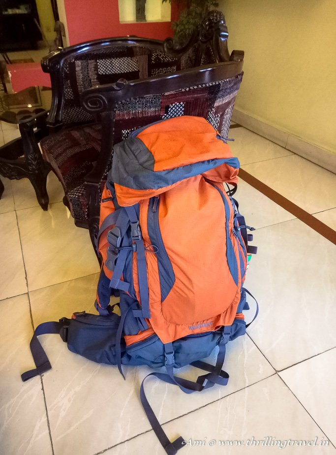 My packed Wildcraft Rucksack