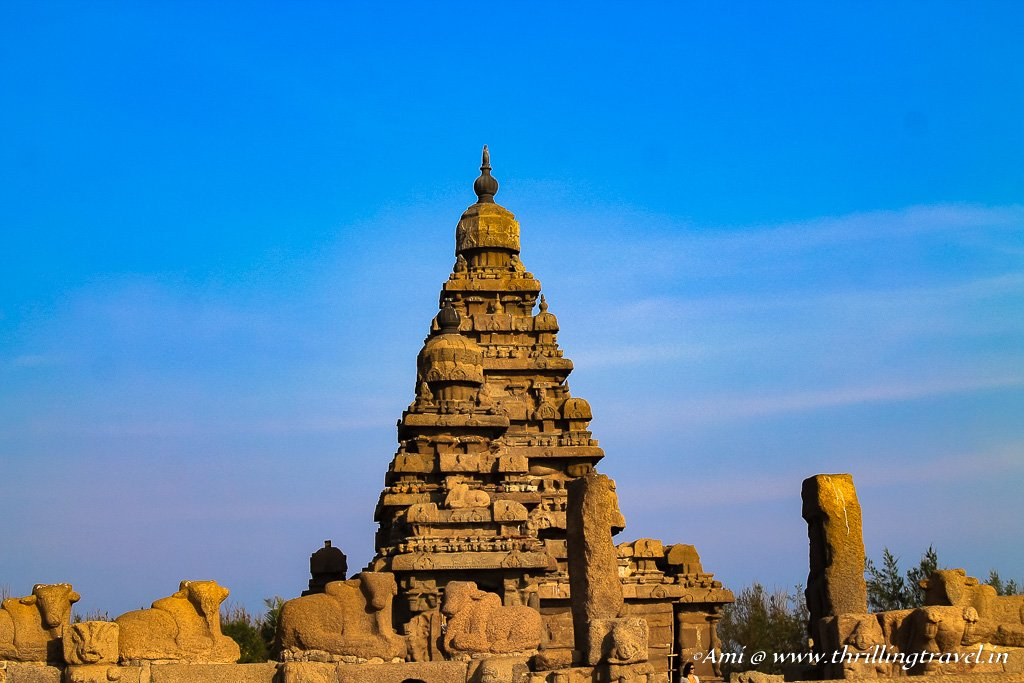 The West entrance of the Shore Temple Mahabalipuram