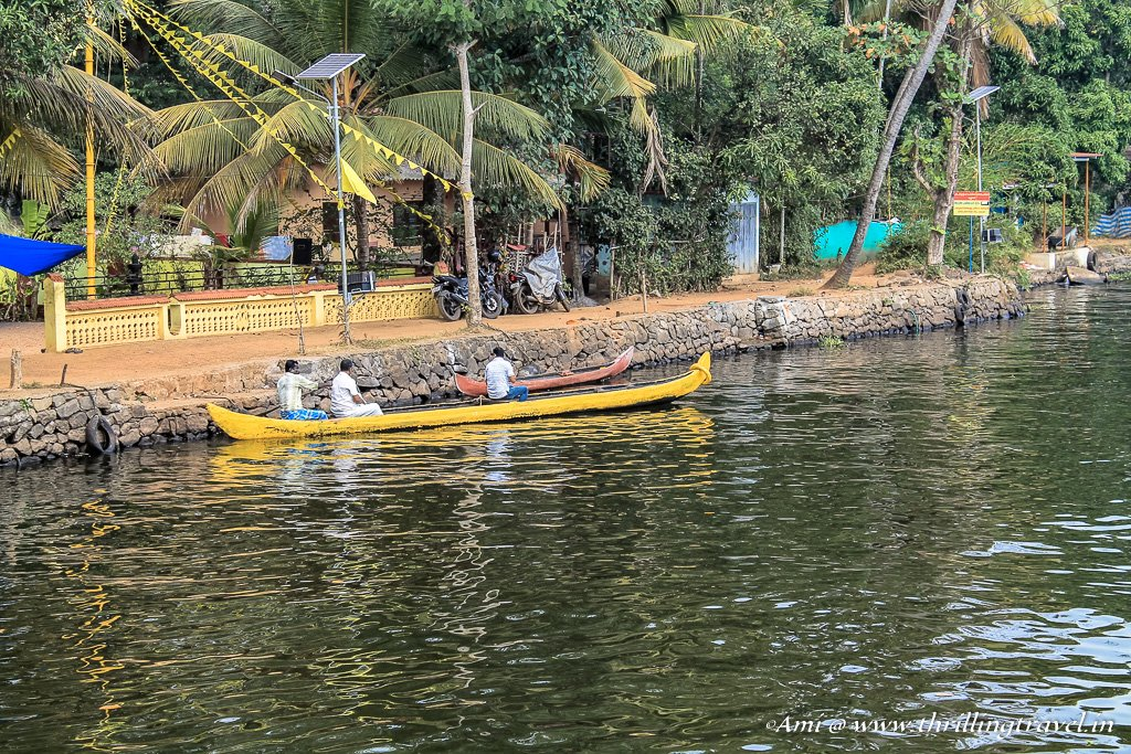 The little boats and bikes of the residents of Alleppey