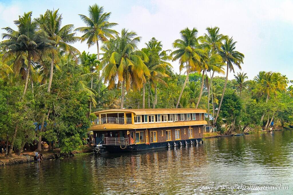The beautiful backwaters of Kerala