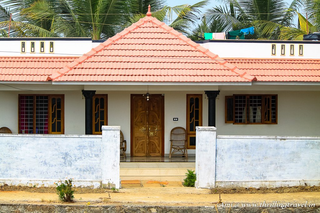 Homes along the Backwaters of Kerala