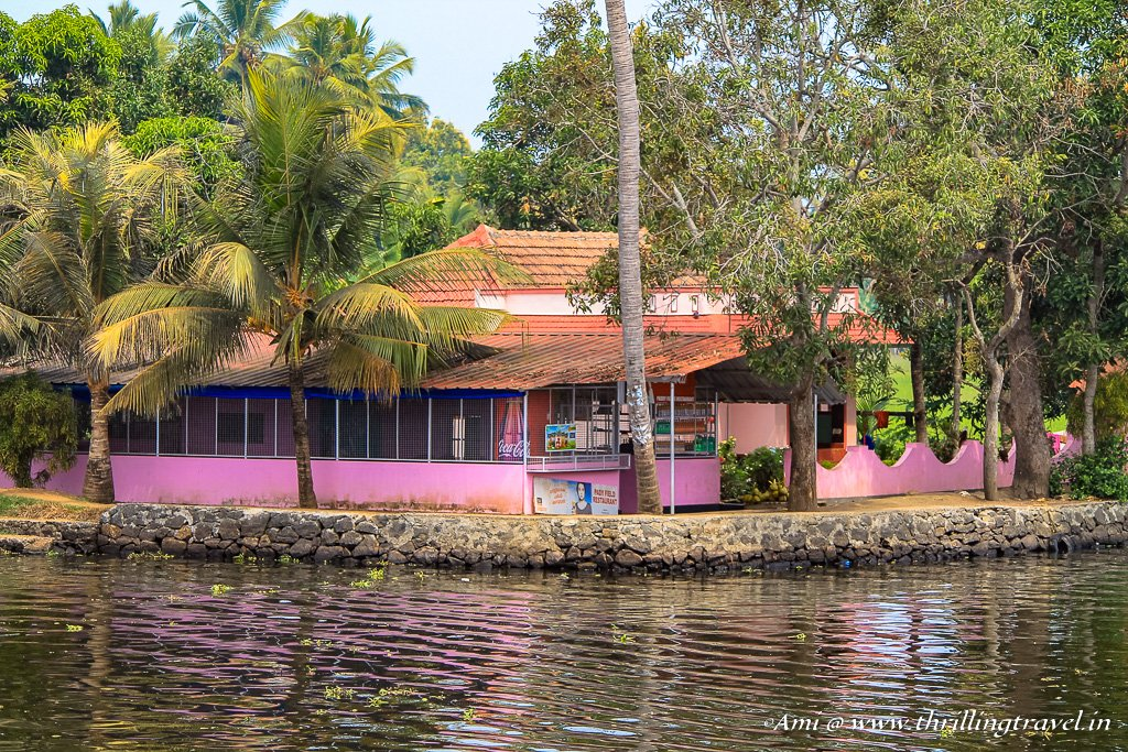 The little shops along the banks of the backwaters of Alleppey