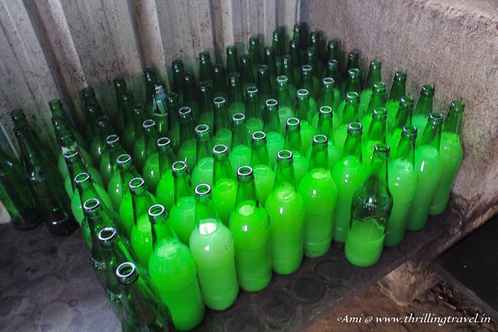 Toddy bottles in Kerala