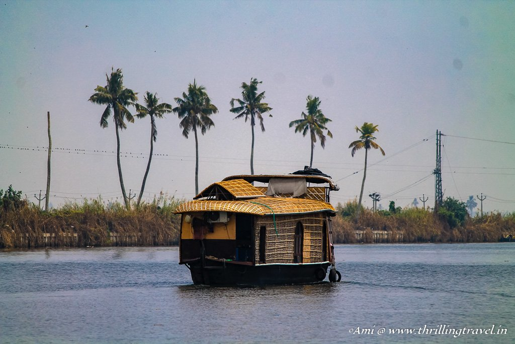 The different water lanes in the backwaters of Kerala