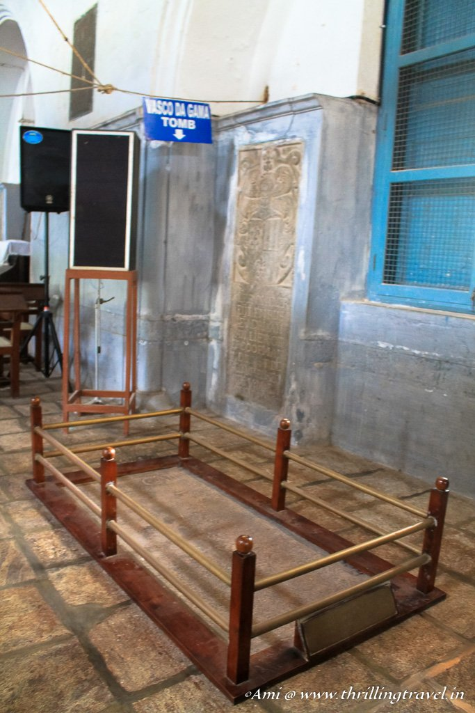 The former resting place of Vasco Da Gama in St Francis Church, Fort Kochi