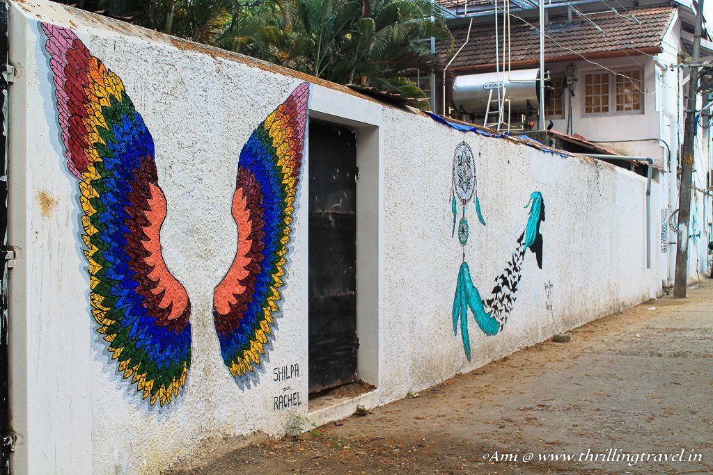 A quick capture of the street art in Fort Kochi