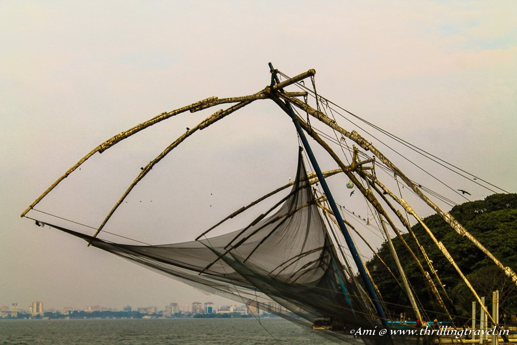 Cheenavala or the Chinese Fishing Nets in Fort Kochi