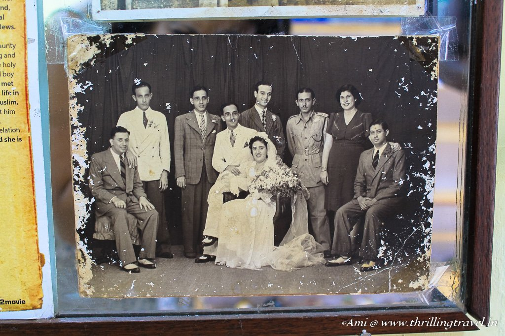 A picture of the good old days of the Jewish community in Fort Kochi - taken at the home of Sarah Cohen