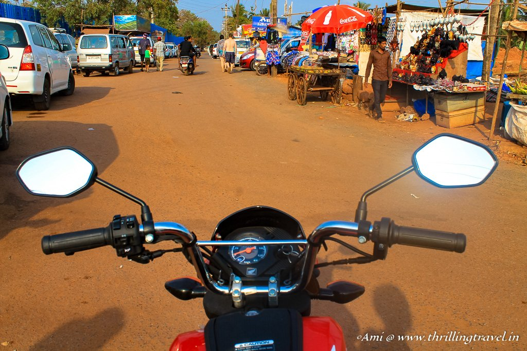 Through all kinds of terrains and roads in Goa, Honda Navi made it easier