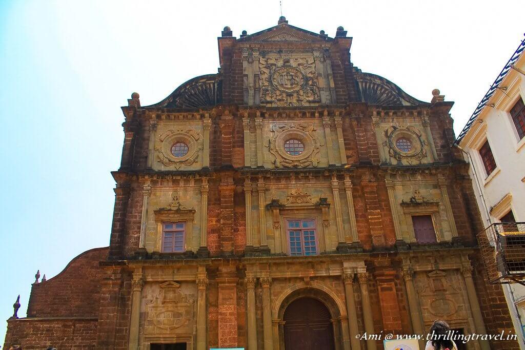 Facade of Basilica of Bom Jesus, Goa