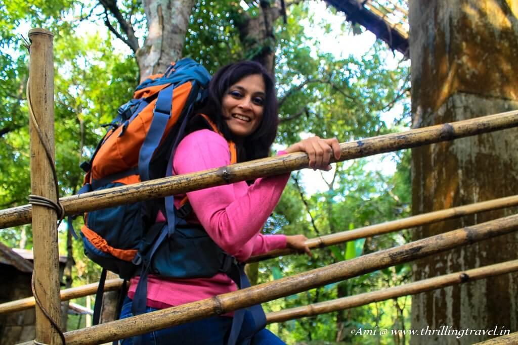 Climbing up with a Wildcraft Rucksack