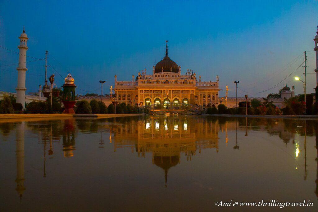 The Chota Imambara in the evening lights