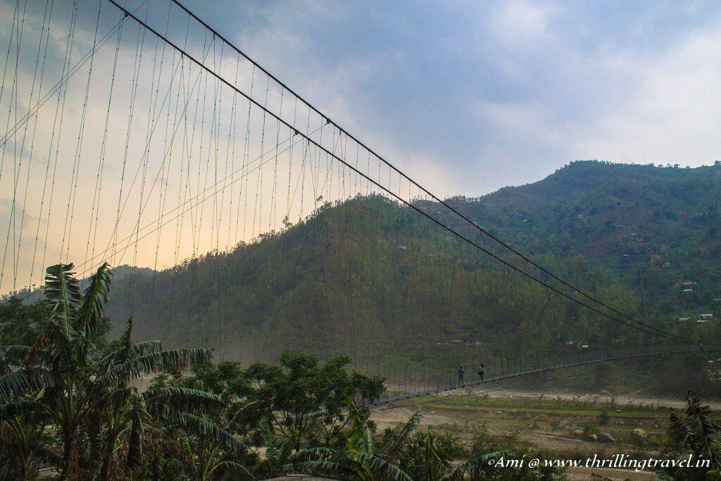 Hanging Bridge or the Nepalese bridge, enroute to Kathmandu
