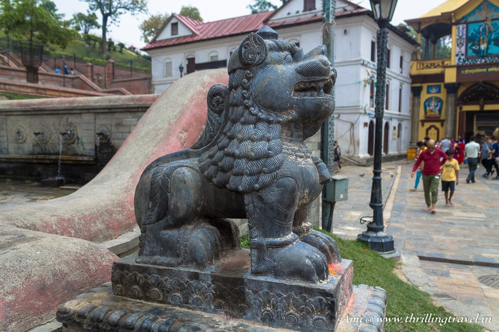 One of the temple guardians at Pashupatinath temple