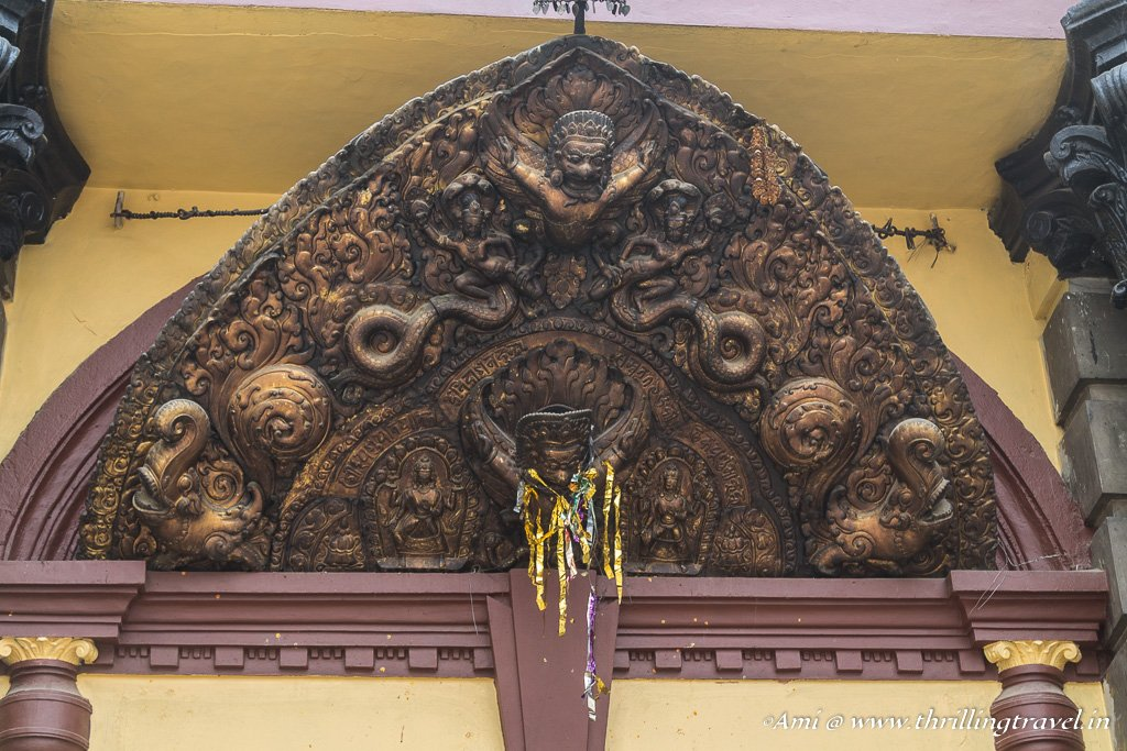 One of the sculptured doorway of the Pashupatinath temple