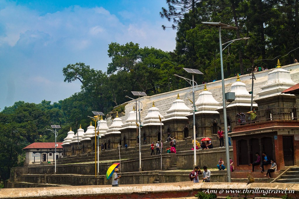 The smaller temple complex behind the Pashupatinath temple