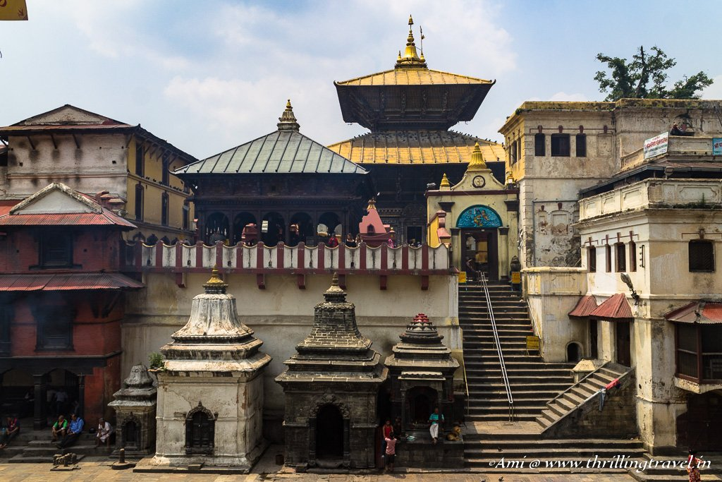 Pashupatinath temple as seen from the other bank of River Bagmati