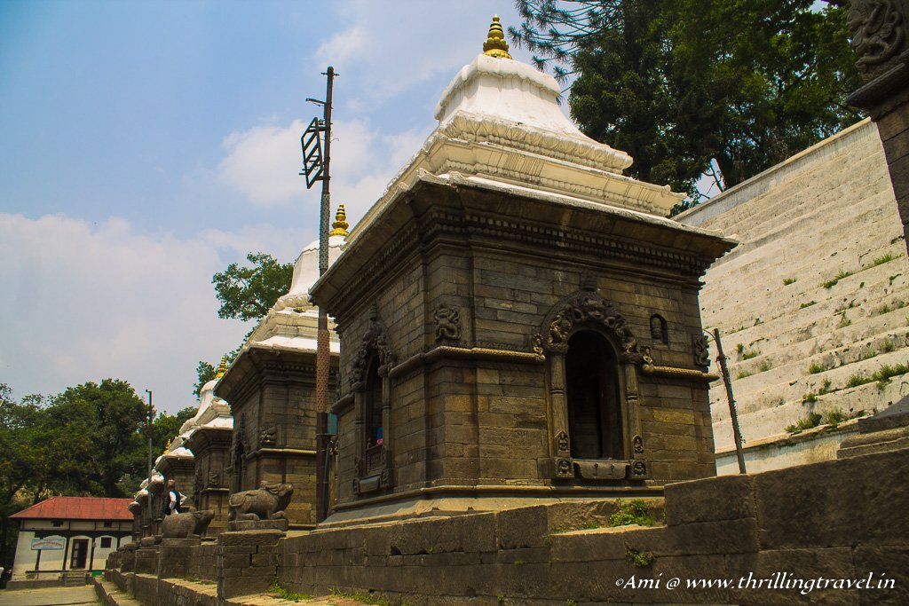 The Royal cenotaphs opposite the Pashupatinath temple, Kathmandu