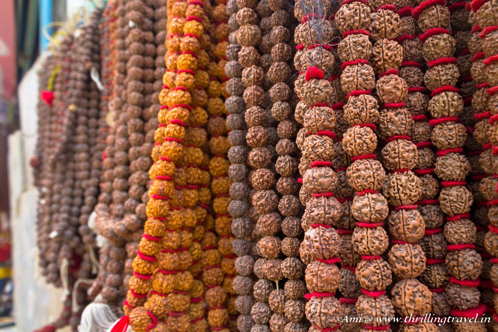 Rudraksha garlands - offerings for Pashupatinath temple