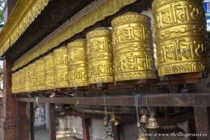 The Prayer wheels at Swayambhunath Stupa, Kathmandu