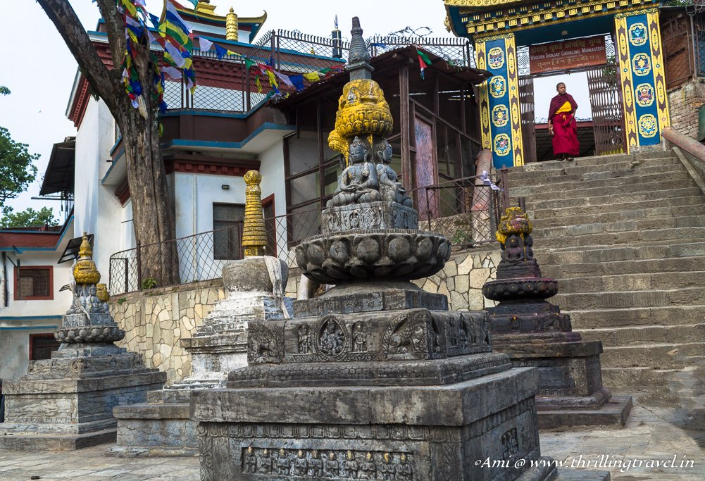 The Buddhist Monastery opposite the Hindu temple in the campus of Swayambhunath temple