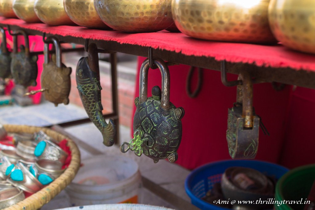 Shopping at Swayambhunath temple