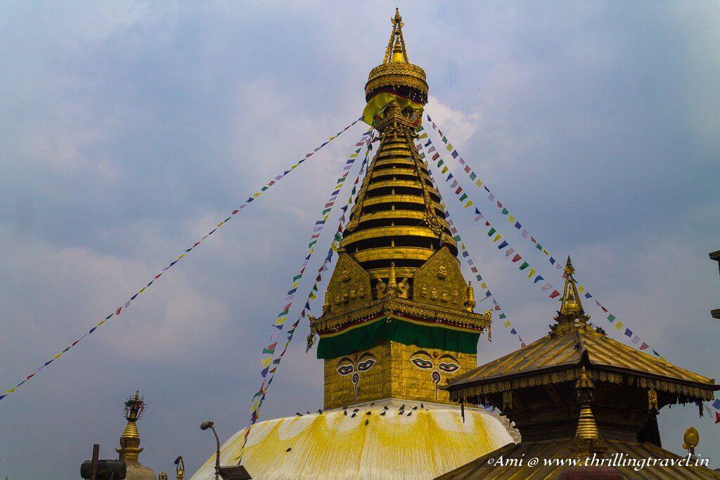 Swayambhunath Stupa with its other temples