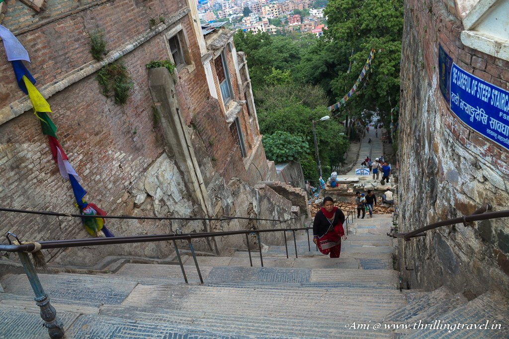365 steps to reach Swayambhunath temple