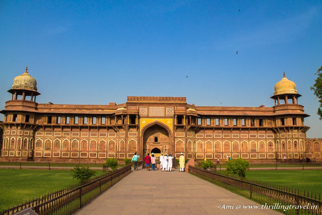 Jahangir's palace at the Red Fort, Agra - one of our stop-overs along the Indo-Nepal trip