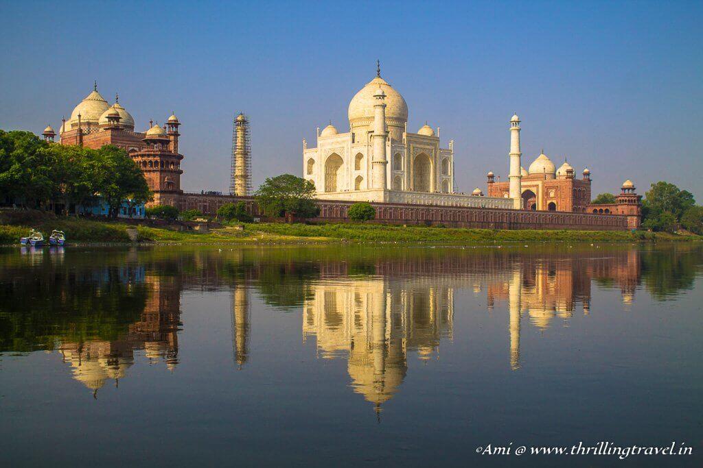 The Taj Mahal from the Yamuna, Agra