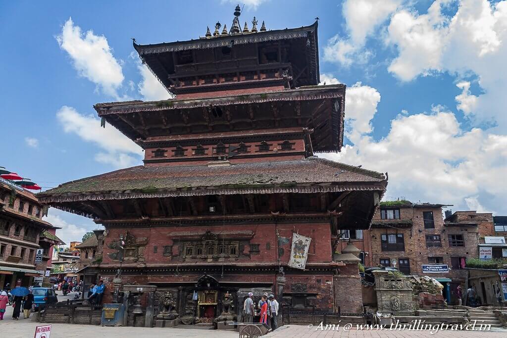 Bhairavnath Temple in Bhaktapur Durbar Square