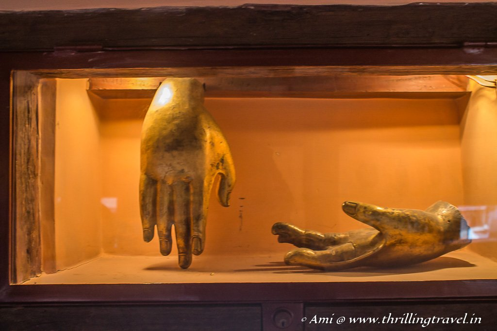Bronze hands of a broken statue