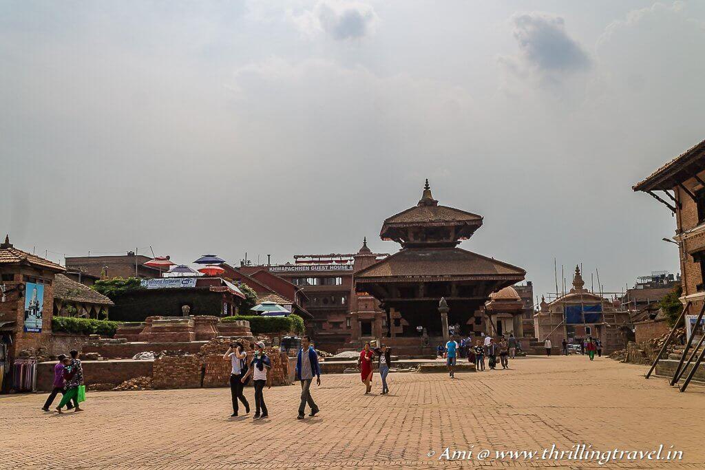 Char Dham temples in Bhaktapur Durbar Square