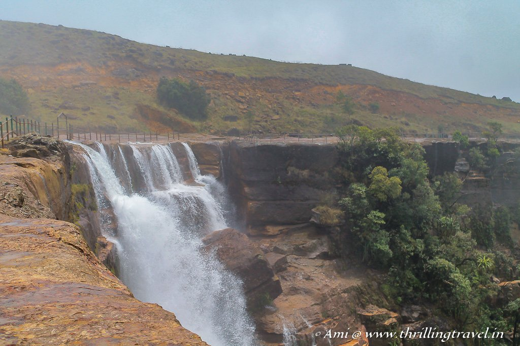 Dainthlen waterfall in Cherrapunji